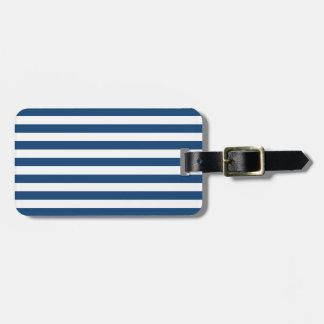 モナコの青い縞パターン ラゲッジタグ