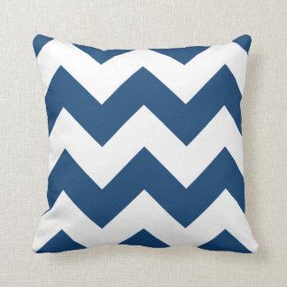 モナコの青のジグザグ形のシェブロンの枕 クッション