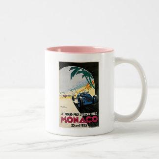 モナコグランプリの自動車 ツートーンマグカップ