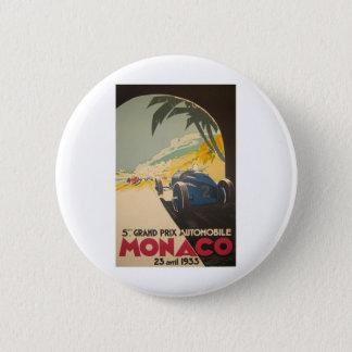 モナコグランプリポスター 5.7CM 丸型バッジ