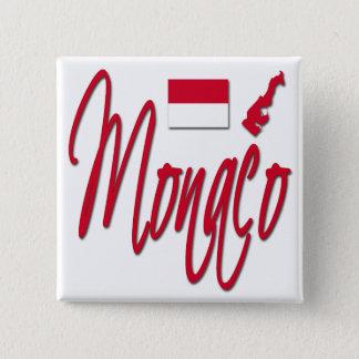 モナコ 5.1CM 正方形バッジ