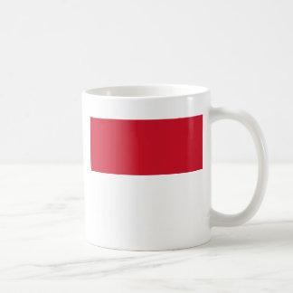 モナコ- Drapeau deモナコの旗 コーヒーマグカップ