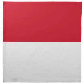 モナコ- Drapeau deモナコの旗 ナプキンクロス