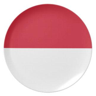 モナコ- Drapeau deモナコの旗 プレート