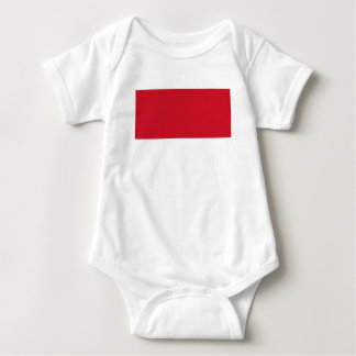モナコ- Drapeau deモナコの旗 ベビーボディスーツ