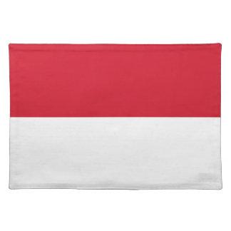 モナコ- Drapeau deモナコの旗 ランチョンマット