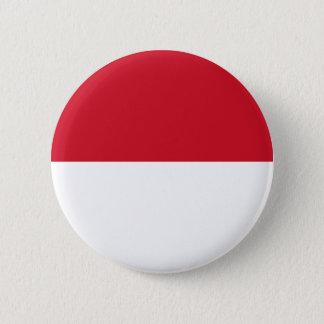 モナコ- Drapeau deモナコの旗 5.7cm 丸型バッジ