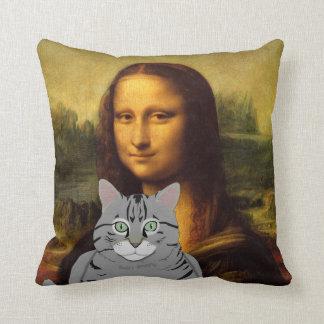 モナ・リザおよび彼女の猫の枕 クッション