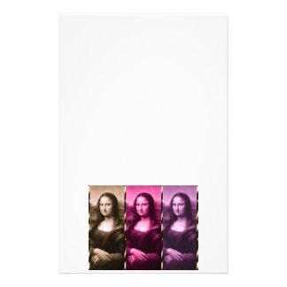 モナ・リザのアニマルプリントの紫色のピンクチョコレート 便箋