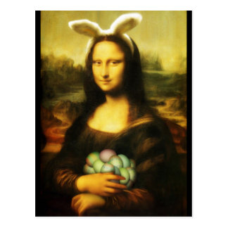 モナ・リザのイースターのウサギ ポストカード