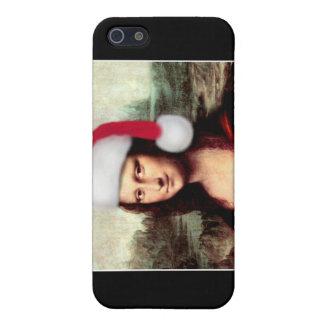モナ・リザのクリスマスのサンタの帽子 iPhone 5 カバー