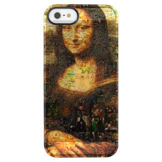 モナ・リザのコラージュ-モナ・リザのモザイク-モナ・リザ クリア iPhone SE/5/5sケース