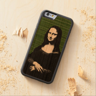 モナ・リザのポップアートのルネサンス CarvedチェリーiPhone 6バンパーケース
