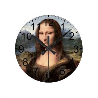 モナ・リザのポートレート/絵画 ラウンド壁時計