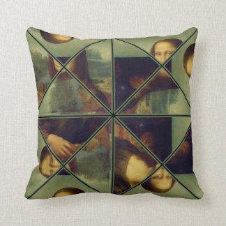モナ・リザの万華鏡のように千変万化するパターンの芸術の枕 クッション
