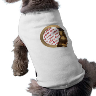 モナ・リザの卒業式の日の写真フレーム ペット服