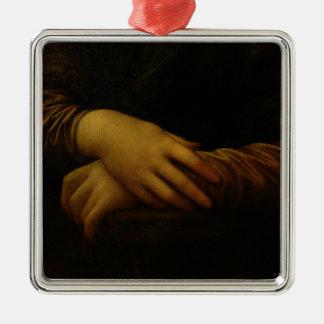 モナ・リザの彼女の手の詳細、c.1503-06 メタルオーナメント
