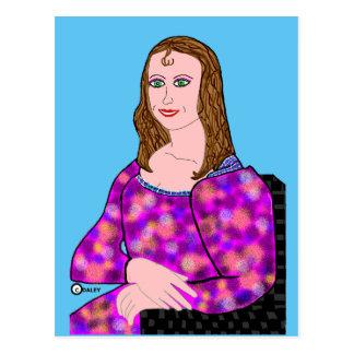 モナ・リザの漫画のイメージ ポストカード
