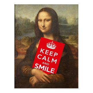 モナ・リザは保ち、平静を微笑します言います ポストカード