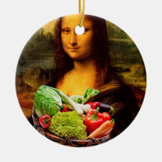 モナ・リザは野菜を愛します セラミックオーナメント