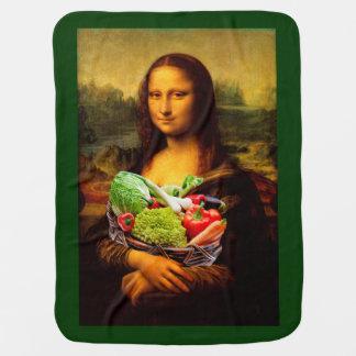 モナ・リザは野菜を愛します ベビー ブランケット