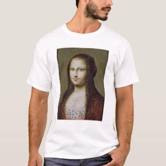 モナ・リザ著インスパイア女性のポートレート Tシャツ