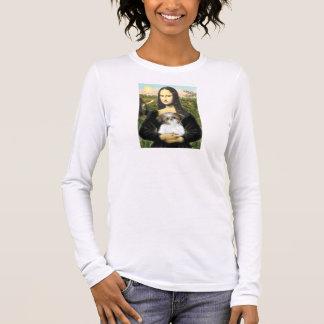 モナ・リザ-シーズー(犬)のTzuの子犬 長袖Tシャツ