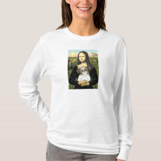 モナ・リザ-シーズー(犬)のTzuの子犬 Tシャツ