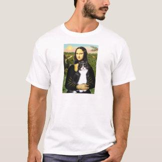 モナ・リザ-白黒猫 Tシャツ