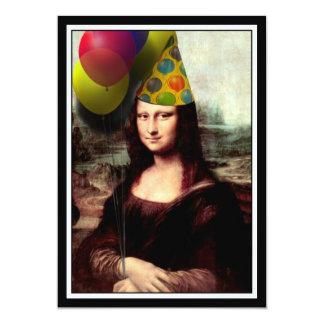 モナ・リザ-誕生日の女の子 カード