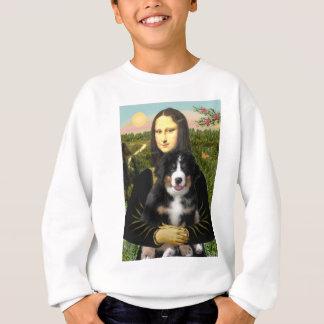 モナ・リザ- Bernese Mt犬の子犬 スウェットシャツ