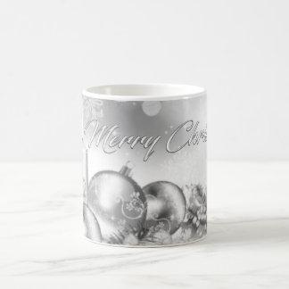 モノクロクリスマスのテーマのマグ モーフィングマグカップ