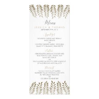 モノクロシダの森林結婚式のコレクション ラックカード