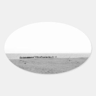 モノクロビーチ 楕円形シール