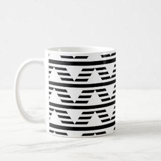 モノクロ幾何学的設計。 パターン コーヒーマグカップ