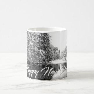 モノクロ新年のテーマのマグ モーフィングマグカップ