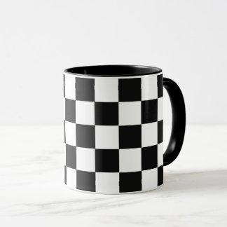 モノクロ正方形の抽象芸術の反復可能な幾何学的 マグカップ