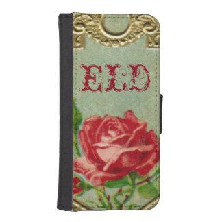 モノグラムおよびフランス人のばら色の香水のSmartphoneの財布 iPhoneSE/5/5sウォレットケース