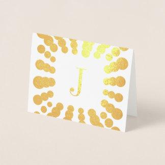 モノグラムおよび水玉模様ホイルカード 箔カード