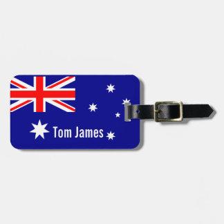 モノグラムが付いているオーストラリアの非常にクールな旗 ラゲッジタグ