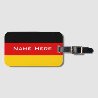 モノグラムが付いているドイツの非常にクールな旗 ラゲッジタグ