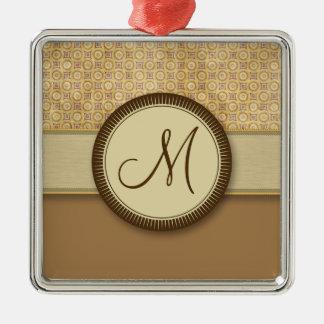 モノグラムが付いているムギの砂の硬貨パターン メタルオーナメント