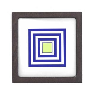 モノグラムが付いている正方形 ギフトボックス