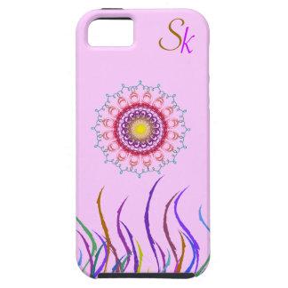 モノグラムが付いている花の民族のカーブ iPhone SE/5/5s ケース