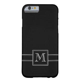 モノグラムとの無地のな黒 iPhone 6 ベアリーゼアケース
