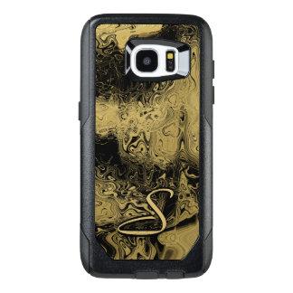 モノグラムによって大理石模様をつけられる金ゴールド オッターボックスSamsung GALAXY S7 EDGEケース