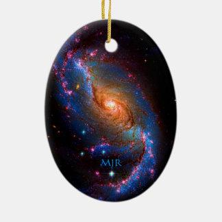 モノグラムによって禁止される渦状銀河NGC 1672年 セラミックオーナメント