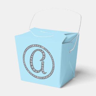 モノグラムのきらきら光るな好意箱 フェイバーボックス