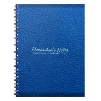 モノグラムので青い革エリマキシギの質の一見 ノートブック