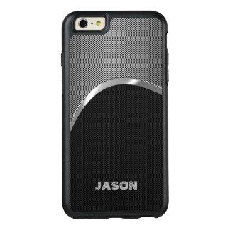 モノグラムので黒く、金属銀製のマッシュ オッターボックスiPhone 6/6S PLUSケース
